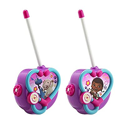 Doc McStuffins Walkie Talkies for Kids Static Free Extended Range Kid Friendly Easy to Use 2 Way Walkie Talkies: Toys & Games