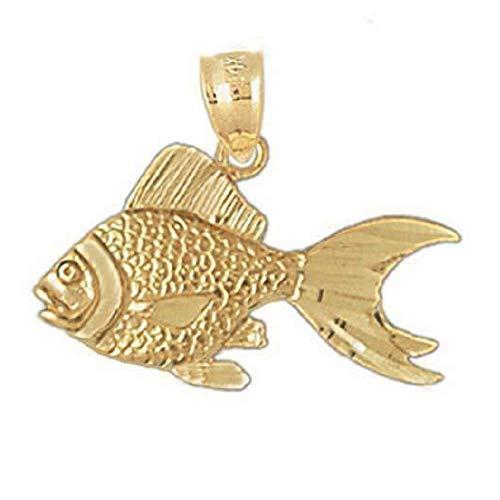 SURANO DESIGN JEWELRY 14k Yellow Gold Goldfish Pendant, Made in USA
