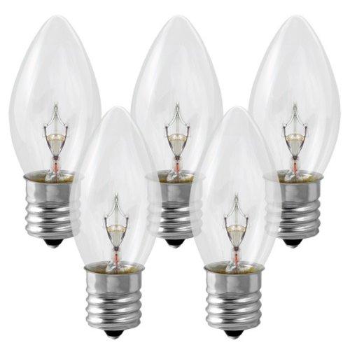 (25 Pack 7 Watt C9 Clear Incandescent Light Bulb, Intermediate Base)