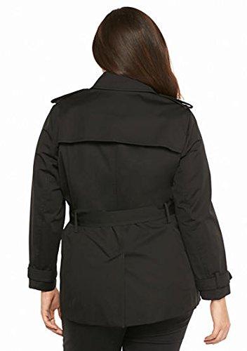 6988beb03cd MICHAEL Michael Kors Plus Size Zip Detail Trench Coat at Amazon Women s  Clothing store