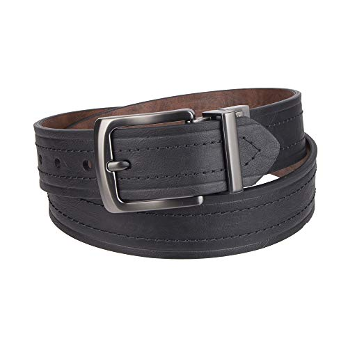 Levi's Men's 1 9/16 in. Reversible Belt-Black/Tan, 36 by Levi's