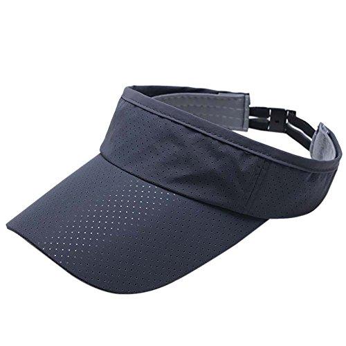 Sun Visor Mesh (Bornbayb Men's Quick Dry Sport Sun Visor Athletic Mesh Visor Cap Sun Protector with Adjustable Strap)