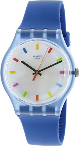 Swatch Originals Color Square White Dial Silicone Strap Unisex Watch SUON125