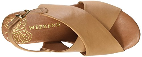 Miralles By Weekend Sandali Pedro Marrone 16577 Plateau Donna Con camel waxfAxqg