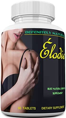 Élodie – America's Best Rated Breast Enlargement, Bust Enhancement Pills. Natural Female Enhancement That Works - Formulated For Those Over 50 - 60 Capsules