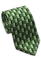 Josh Bach Men's Golf Silk Necktie Green Made in USA