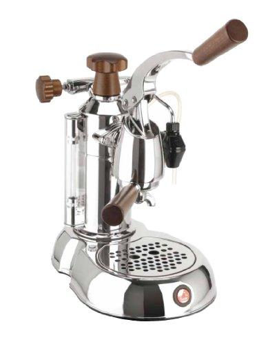 16 Cup Espresso Machine (La Pavoni PSW-16 Stradavari 16-Cup Espresso Machine, Chrome with Wood Handles)