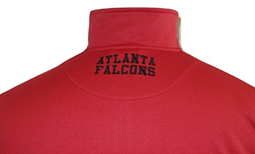 Antigua Pullover Fleece - G-III Sports Atlanta Falcons Antigua Red/Black Quarter Zip Performance Fleece Pullover Jacket