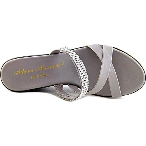 Athena Alexander Womens Modelle Open Toe Wedge Pumps Grey Mc4MELC