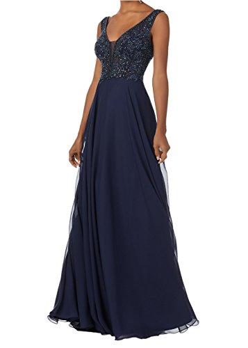 Promworld Womens Beaded V-Neck Bodice Chiffon Long Party Prom Dresses: Amazon.co.uk: Clothing