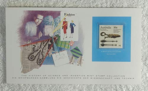 - The Scissors - Postage Stamp (Australia, 1985) & Art Panel - The History of Science & Invention - Franklin Mint (Limited Edition, 1986) - Cutting, Cut, Tool