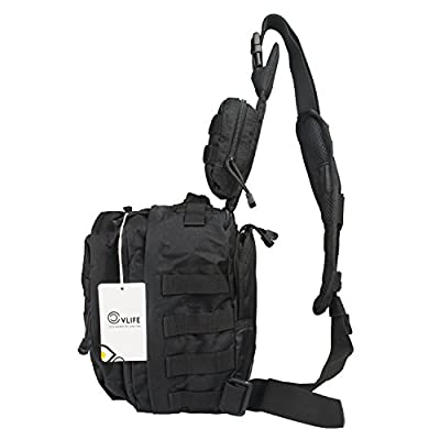 CVLIFE Tactical Shoulder Backpack Outdoor Military Chest Pack, Rover Sling Bag for Hiking, Camping, Trekking