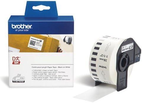 Endlosrolle 38mm DK22225 Brother Etiketten 38 mm x 30, 48 meter, Papier, 1 Endlosetikett, DK Label Endlos, DK-22225