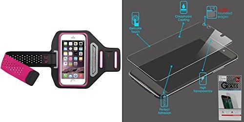Raz Pack - Combo pack Vertical Pouch Universal Hot Pink/Black Sport Advanced Armband (352) (with Package) for SAMSUNG I717 (Galaxy Note) SAMSUNG i515 (Galaxy Nexus) LG VS920 (Spectrum) MOTOROLA XT912M (Droid Raz