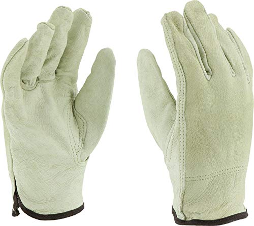 West Chester 9940K Premium Grain Pigskin Leather Driver Work Gloves: Keystone Thumb, Large, 12 ()