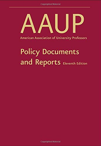 By AAUP Policy Documents and Reports (eleventh edition) [Hardcover]