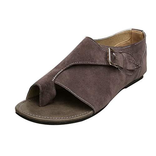 COPPEN Women Sandals Bohemia Roman Style Soft Comfortable Leisure Flat Sandal Buckle Strap Flat Shoes