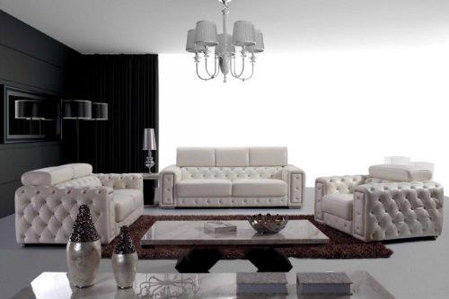 VGBN3025 Divani Casa Lumy - Modern Tufted Leather Sofa Set