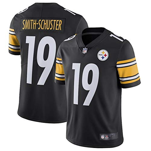 cc697f3c72b Men s Juju Smith-Schuster  19 Pittsburgh Steelers Jersey Black (XL)