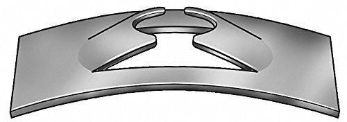 #8 Rectangular Spring Nut, Black Phosphate, Steel, PK100 by GRAINGER APPROVED