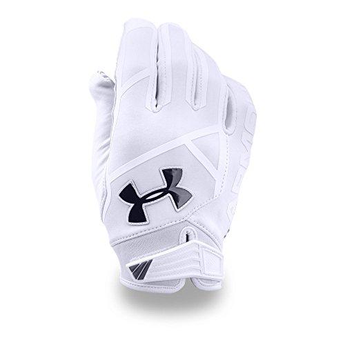 Under Armour Men's Playoff ColdGear II Gloves, White (100)/Black, Small/Medium
