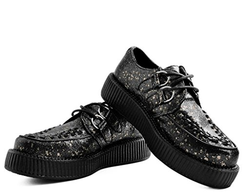 Chrome Seule Viva Basse Splatter u Creeper T Et Noir Paint Shoes k fPwzZX