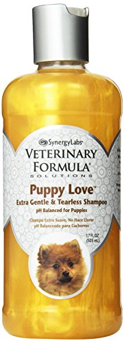 Veterinary Formula Solutions Puppy Love Extra Gentle Tearless Shampoo - Safe for Puppies Over 6 Weeks - Long-Lasting Clean, Fresh Scent - Cleanses Without Drying Delicate Skin (17oz)