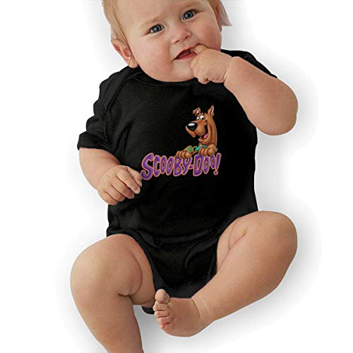 FAMURR Girls&Boys Kid Scooby Doo Logo Cotton Crew Neck Short Sleeve T-Shirts Top Black ()