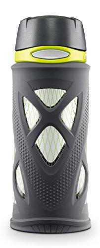 ZULU Shorty Tritan Plastic Water Bottle, Grey, Standard