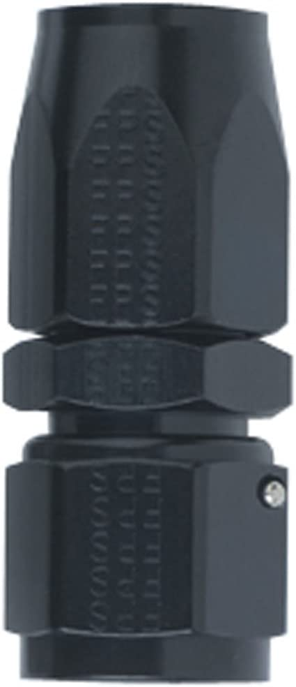 Fragola Performance Systems 100106-BL #6 Straight Power Flow Hose End Black