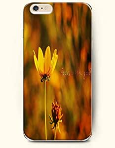 OOFIT Apple iPhone 6 (4.7 inches) Case - Life Inspirational Quotes Focus On The Good / Yellow Flower
