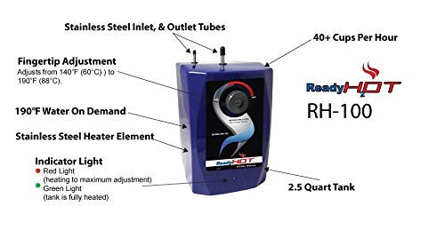 Ready Hot RH-100-F560-BN Hot Water Dispenser System, Includes Brushed Nickel Dual Lever Faucet by Ready Hot (Image #2)