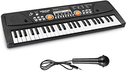 AIMEDYOU 49 Keys Keyboard Piano Electronic Digital PianoDouble Built-In Speaker Microphone and Power Supply Music Keyboard Early Learning Educational Toy Birthday Xmas Day Gifts for Kids