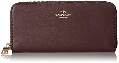COACH Women's Smooth Slim Accordian Zip Wallet Li/Oxblood One Size
