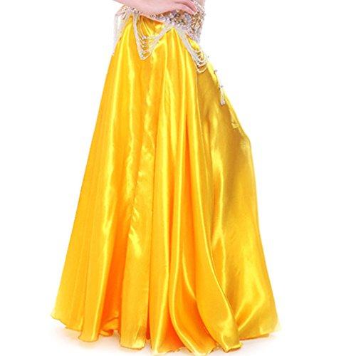 MUNAFIE - Falda - Manga Larga - para mujer amarillo