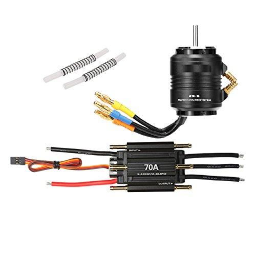 SunniMix 4200KV 4 Pole Motor+70A ESC Brushless Speed Controller for 600-800mm RC ()