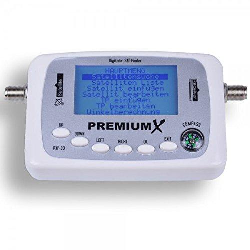 PremiumX Digital Sat Finder pxf-105/de 33/con Pantalla LCD de detecci/ón de sat/élite y br/újula