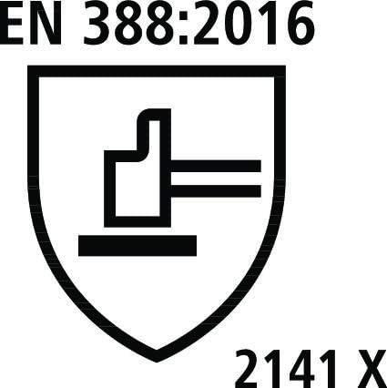 Talla 7 Guantes de Trabajo con Palma de l/átex Kerbl 297201 PowerGrab