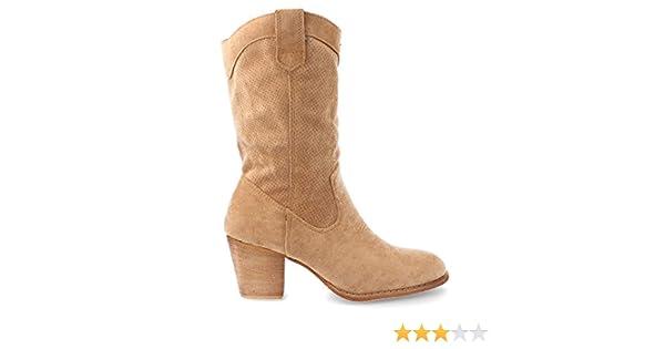 be9421c0084 Botas Camperas de Mujer con calados Primavera Verano 2019 Talla 39 Camel:  Amazon.es: Zapatos y complementos