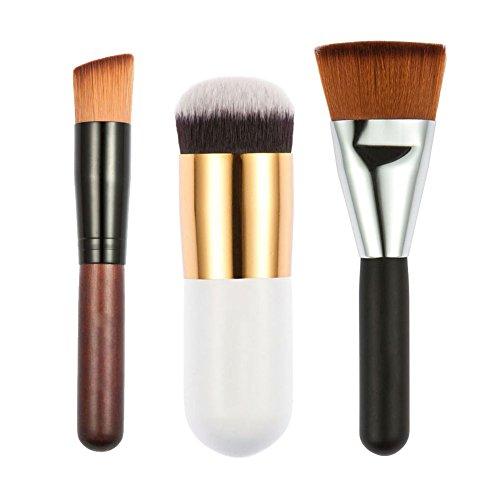 Oblique Head - Jocestyle Pro 3 Pcs Makeup Brush Set,163 Flat Contour Brush + Fat Head Brush + Oblique Head Brush