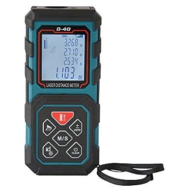 MAKINGTEC Handheld Laser Distance Meter D40 With LCD Backlight Display 5 Measurement Modes 40m/131ft Colour Blue