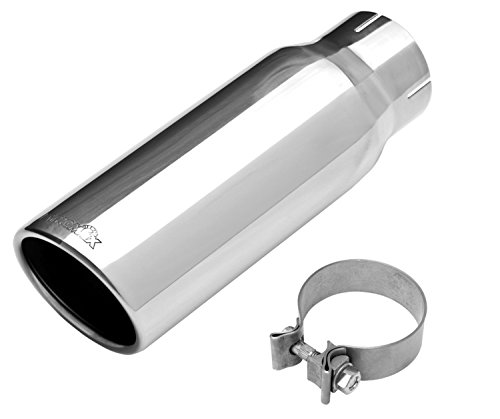 3500 Exhaust (Dynomax 36474 Stainless Steel Universal Exhaust Tip)