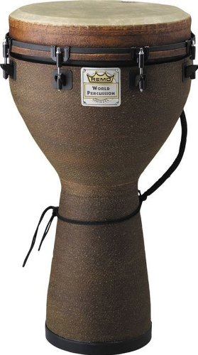 Remo Mondo Designer Series Key-Tuned Djembe Level 1 Earth 24 x 10 in.