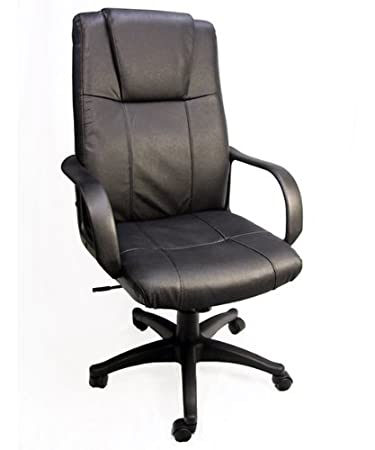 Bodymade Highback Leather fice Chair w adjustable Gas Lift Tilt Lumbar Support