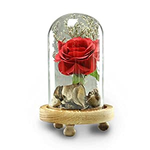 Inverlee Artificial Flowers Romantic Glass Rose Wedding Decoration Home Furnishing DIY Home Garden Decor 82