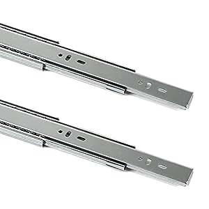 1 par (2 piezas) Guía para cajón de extracción total y SoftClosing Alto 45 mm/L 350 mm Carril de cajón