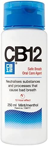 CB12 Mint Menthol Sicherer Atem Mundwasser (250 ml) - Packung mit 6