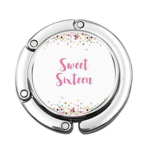 (Mrsangelalouise Decorative Soft Pastel Colored and Dotted Frame for Teenager Birthday Celebration Custom Various Design Pattern Shoulder Handbag Folding Purse Hanger Hook)