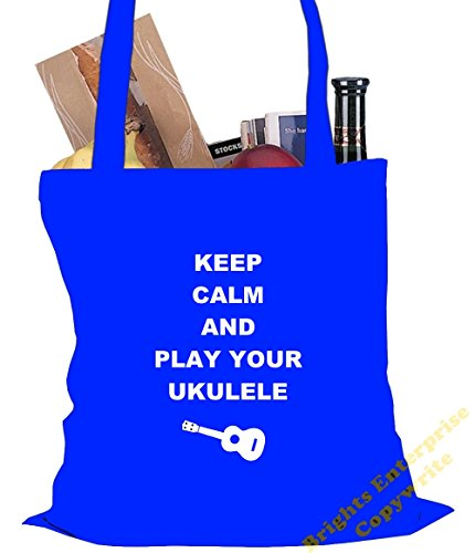 unique tote with Birthday our Ukulele Bag the Tote Beach reuseable An range play Gym wording Calm Size 13 the 10 and x Keep original bag Blue Shopping from fil litres stocking Christmas 42 cm 38 or qwgSnX