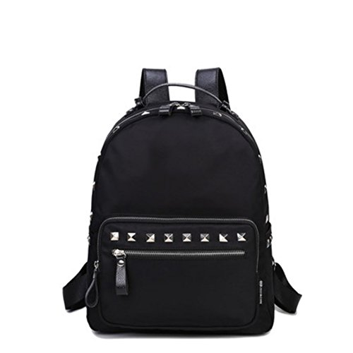 Mochila de remache/Moda individualidad bolsa de ocio/ mochila de nylon salvaje-A B